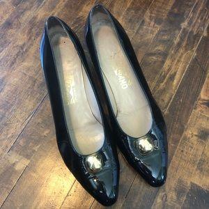 Salvatore Ferragamo Classic Black Heels